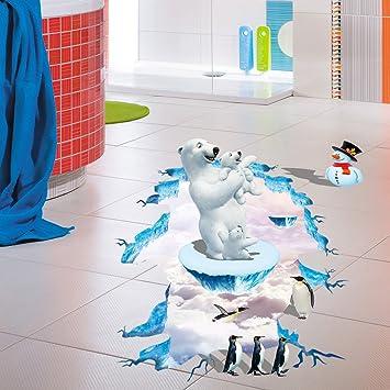 Amazon Com Fenleo Polar Bear 3d Wall Sticker Wall Mural Removable