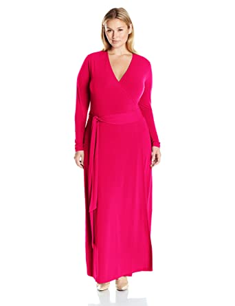 1b99c481 MYNT 1972 Women's Plus Size Maxi Wrap Dress at Amazon Women's Clothing  store: