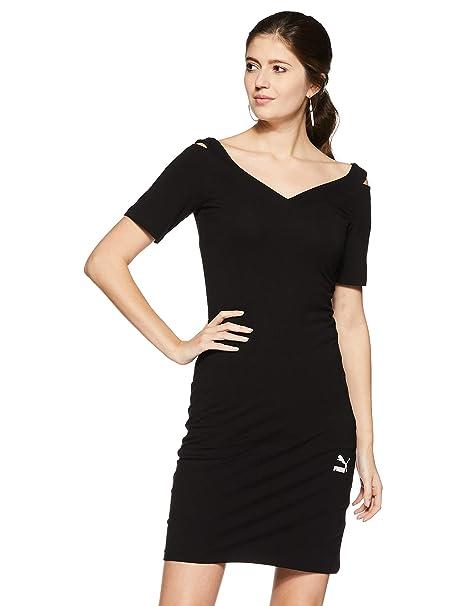 big sale 2dedd f2e5b Puma Classics T7 Dress, Vestito Donna, Cotton Black, M ...