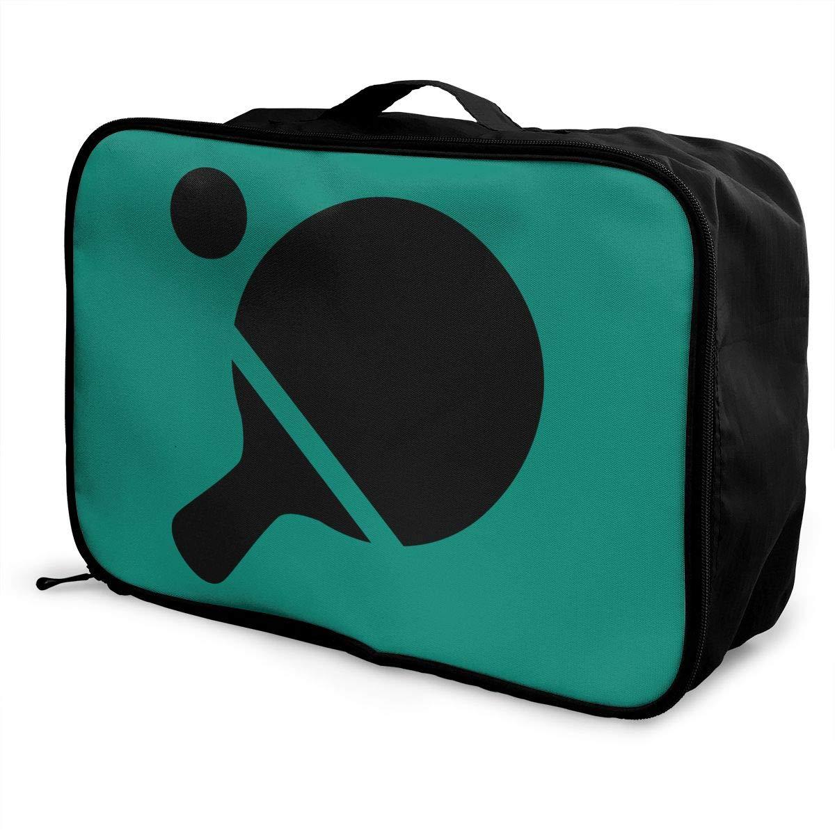 FAJRO Duffle Bag for Women Men Wavy Line Travel Duffel Bag Large Size Water-proof Tear Resistant