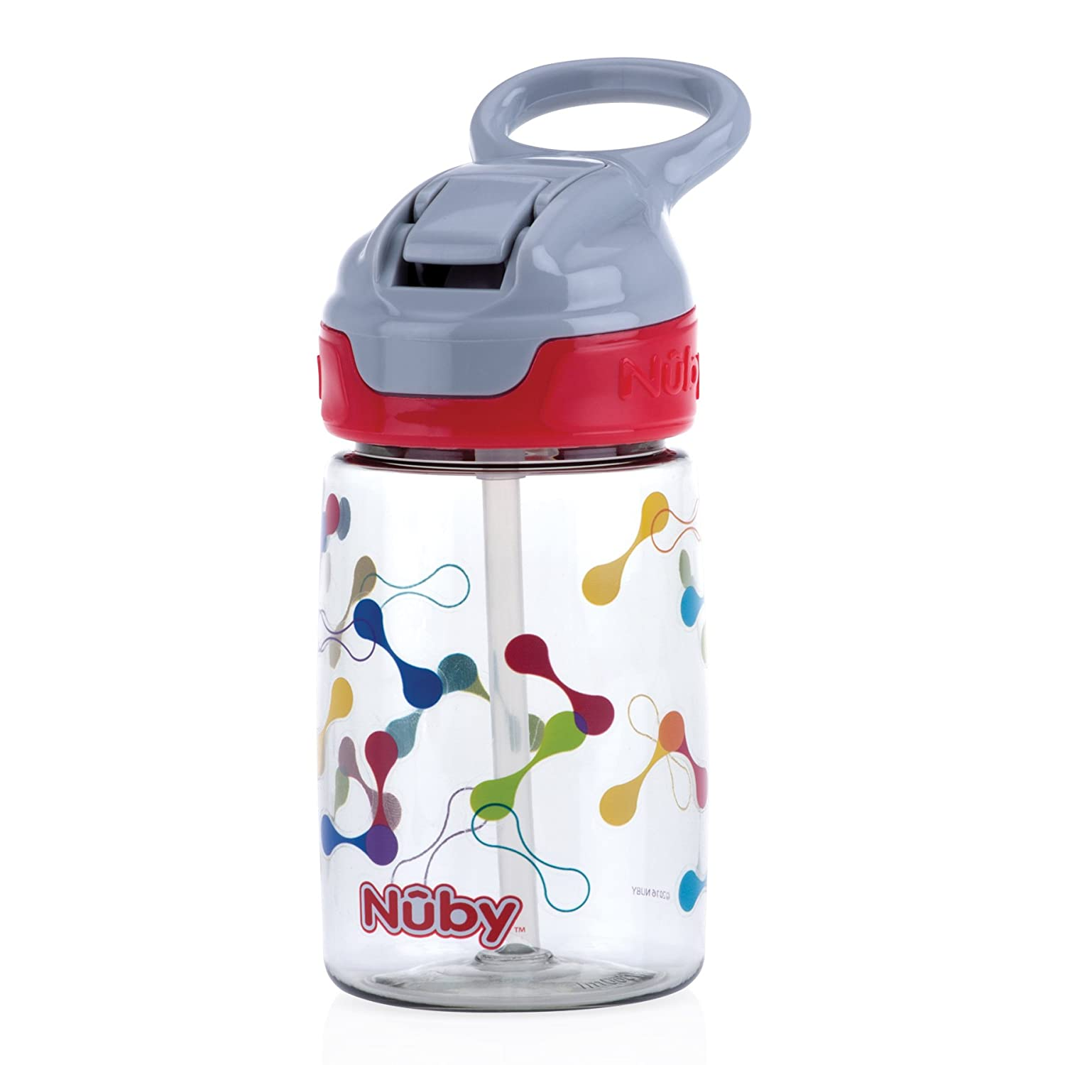 Nuby Thirsty Kids No-Spill Flip-It Reflex 12oz, Red 531298RD