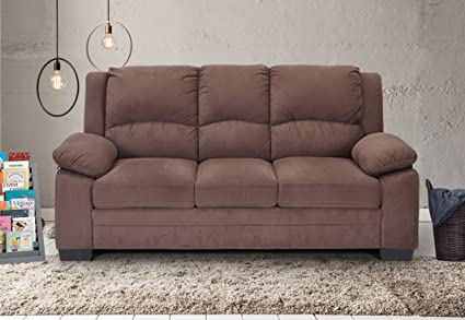 leather sofa fabrizio sectional design microfiber brown
