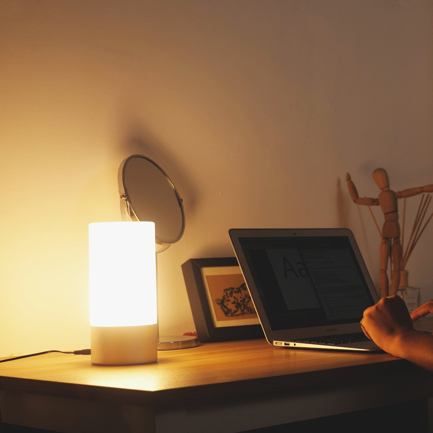 AUKEY Table Lamp, Touch Sensor Bedside Lamps + Dimmable Warm White Light & Color Changing RGB for Bedrooms by AUKEY (Image #5)