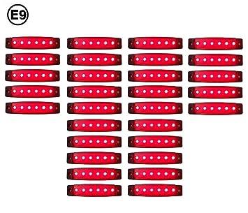 20 x LED 12V BEGRENZUNGSLEUCHTE POSITIONSLEUCHTE SEITENMARKIERUNGSLEUCHTE LKW