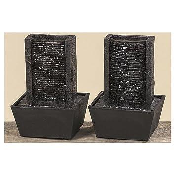 tischbrunnen tisch brunnen 2sort h18cm schwarz kunstharz batteriebetrieben gunstig kaufen