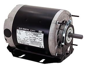 A.O. Smith SGF2054AV2 1/2-1/6 hp, 1725/1140 RPM, 115 volts, 56Z Frame, ODP, Sleeve Bearing Belt Drive Blower Motor