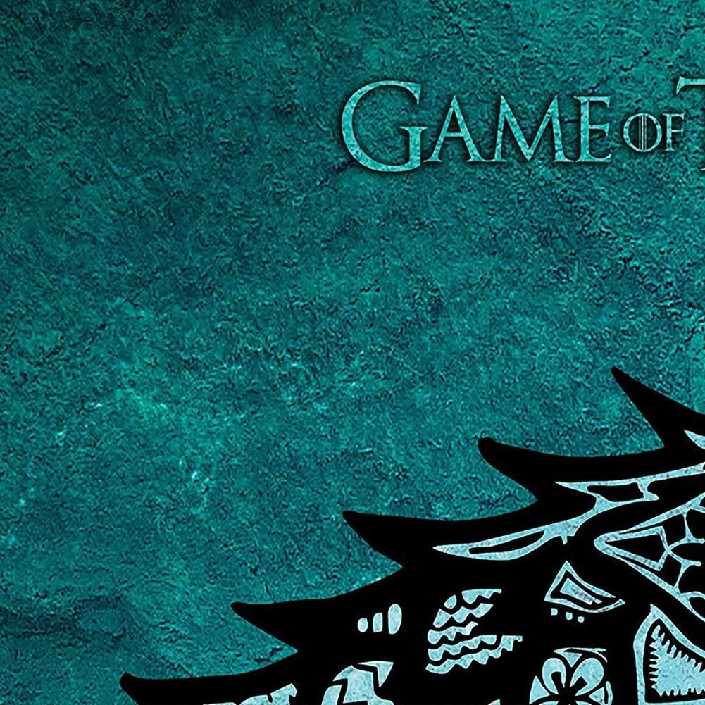 Canvas Housse de Couette et Taie doreiller Parure de lit 3D Game of Thrones Impression Enfant Gar/çon Les Jeunes,King
