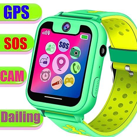 Smart Watch Phone para niños Niños Chicas GPS Niños Smartwatch Vacaciones Regalos de cumpleaños con SOS