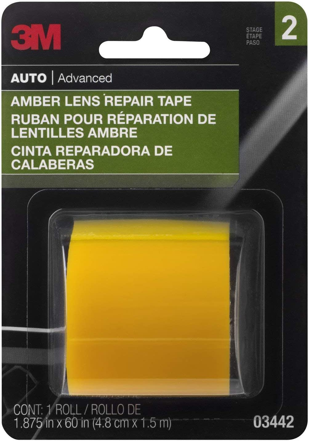 3M Amber Lens Repair Tape 1 Roll Highly Durable 4 1.9in x 60in