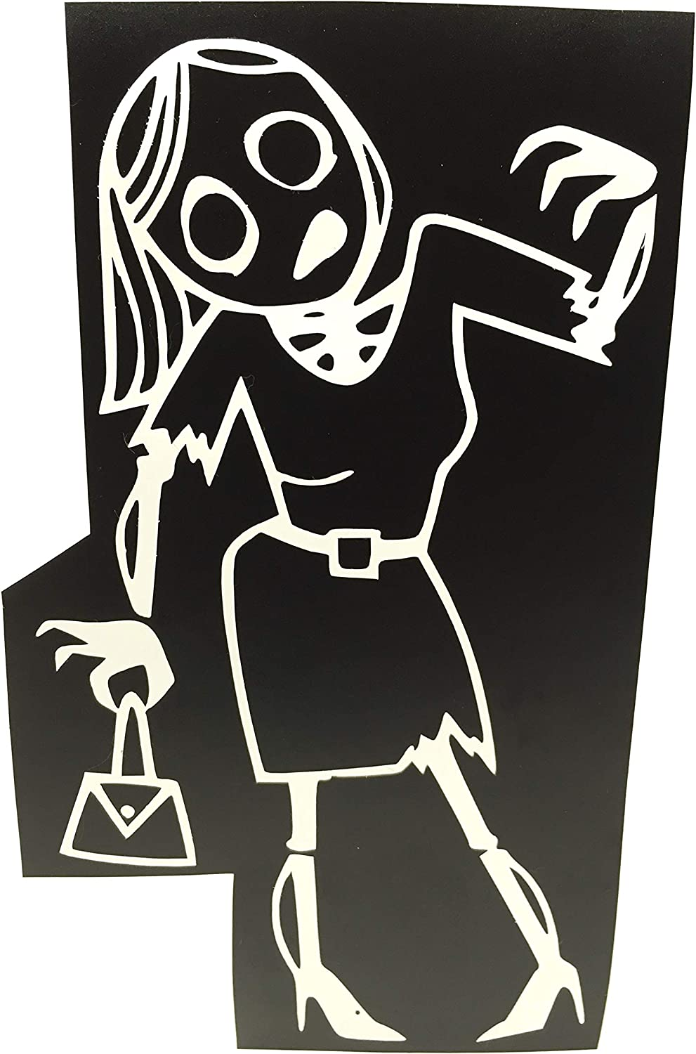 """Zombie Family Vinyl Window Decal Sticker 7/"""" Choose Your Color And Family Members"""