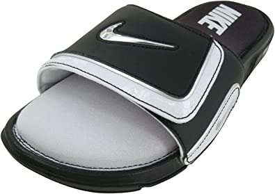 Amazon.com: Nike 415205 Men's Comfort Slide 2 - Black/White ...