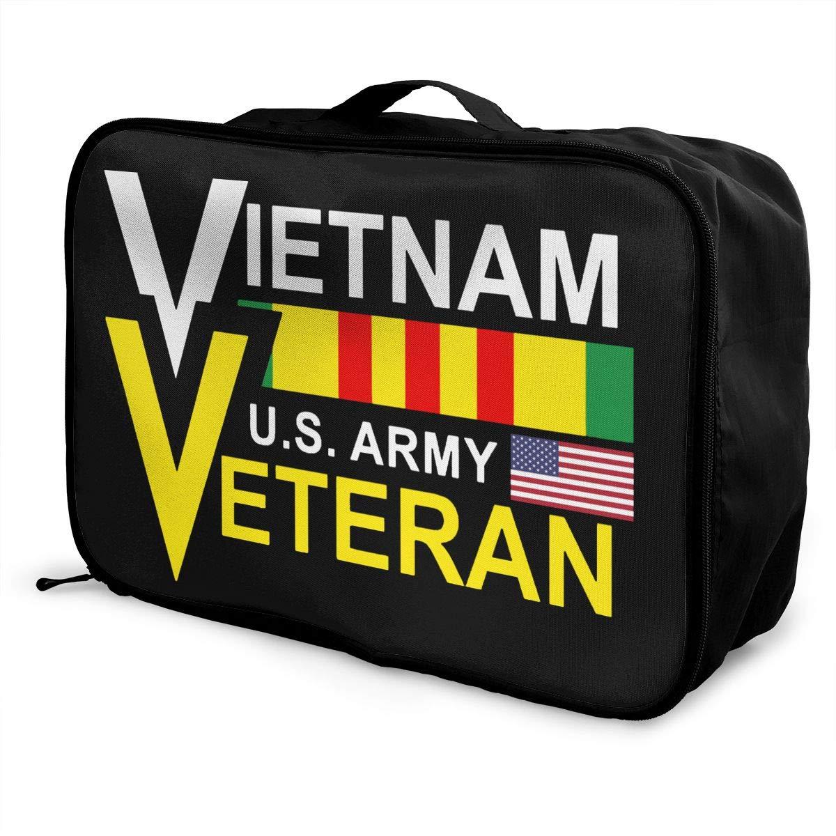 US ARMY VIETNAM VETERAN Travel Bag Men Women 3D Print Pattern Gift Portable Waterproof Oxford Cloth Luggage Bag