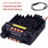 QYT KT8900 Dual Band Mobile Transceiver VHF/UHF 136-174/400-480MHz 25/20W Mini Car Radio Amateur (Ham) Radio, with Programming Cable & Software