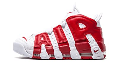 Nike Mens Air More Uptempo WhiteGym Red Leather Size 12