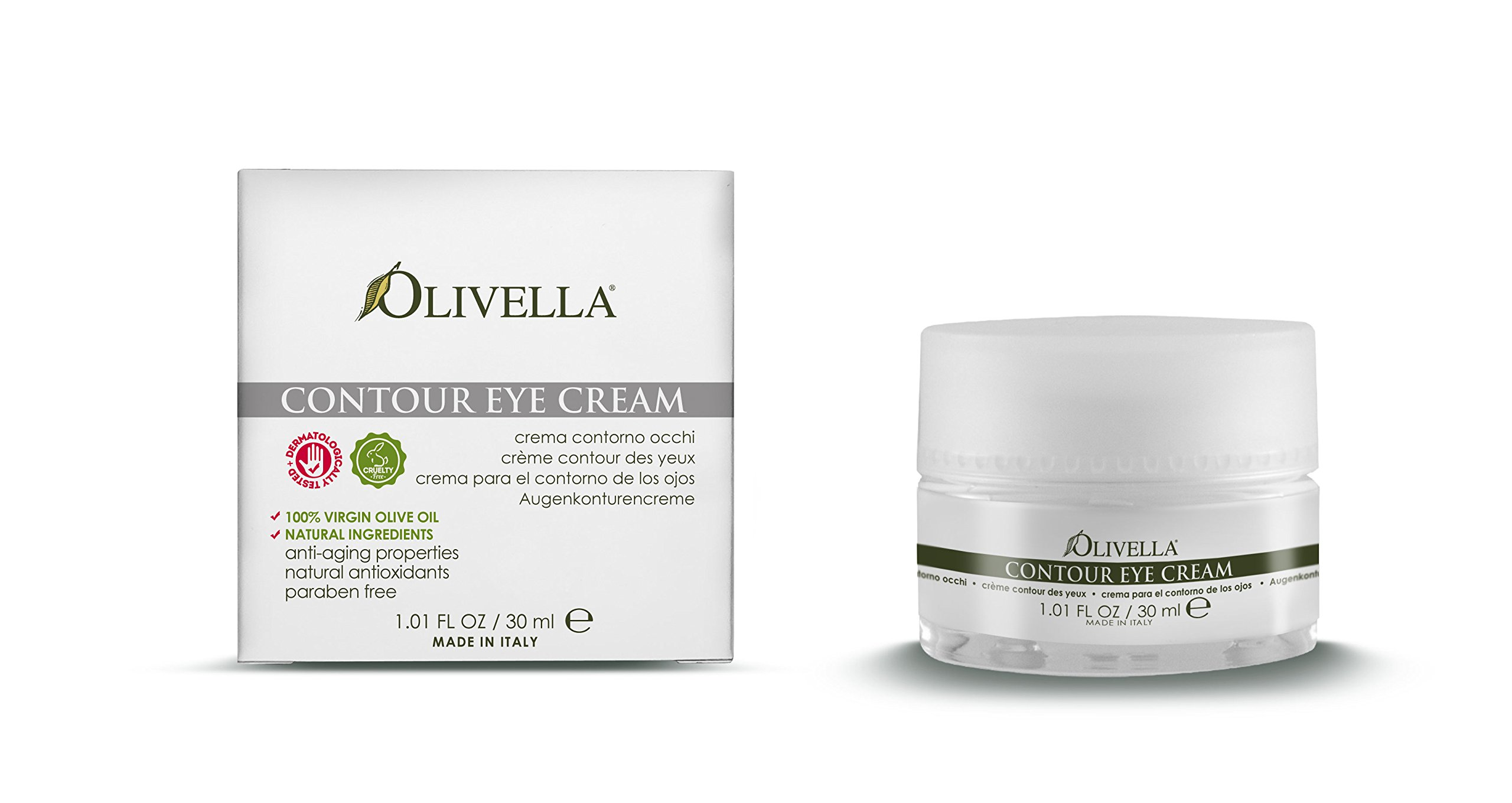 OLIVELLA Contour Eye Cream, Olive, 1.01 Fluid Ounce