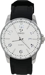 PRINCELY Casual Watch For Men - Leather -P581GLS-BK