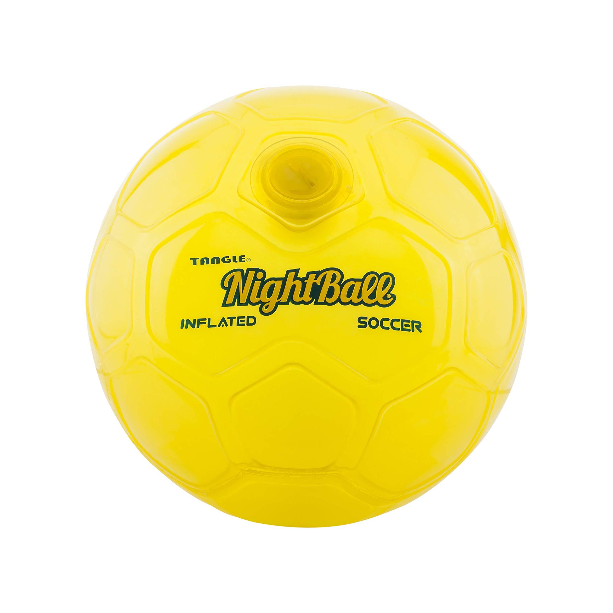 Nightball Tangle LED Light Up Soccer Ball Yellow by Nightball