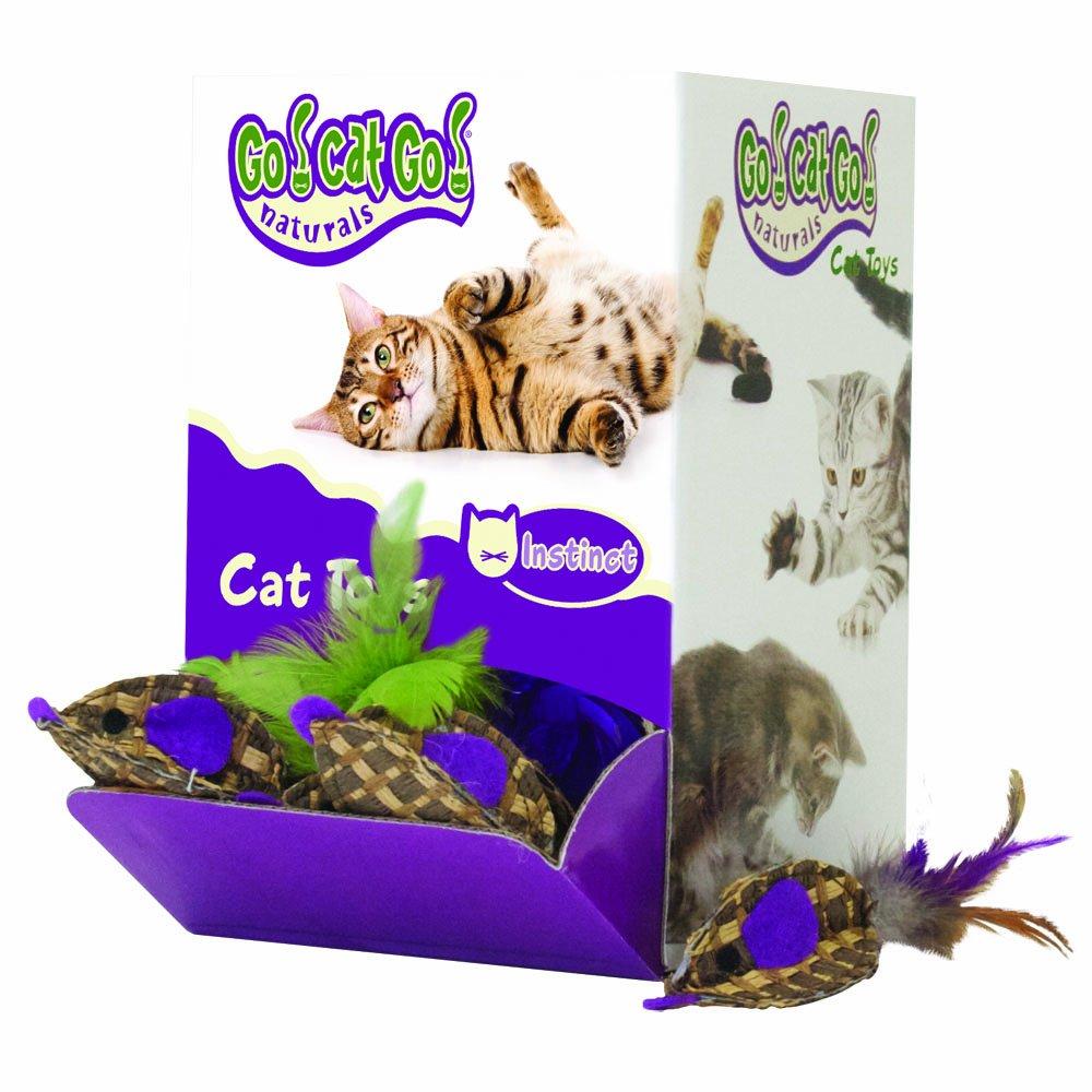 48 piece OurPets Basket Case Bulk Bin, Natural Cat Toy (48 piece)