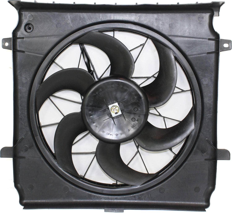 Garage-Pro Cooling Fan Assembly for JEEP LIBERTY 2002-2004 Single Fan 2.4L (=3.7L 2002-2003)