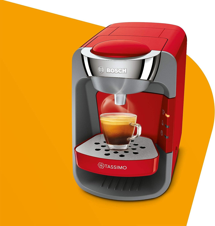 Bosch Tassimo Suny - Cafetera monodosis rojo: Amazon.es: Hogar