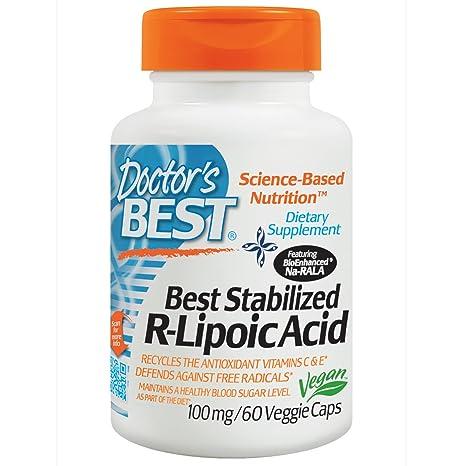 Doctors Best - El mejor magnesio estabilizado del ácido 100 de R-Lipoic. -