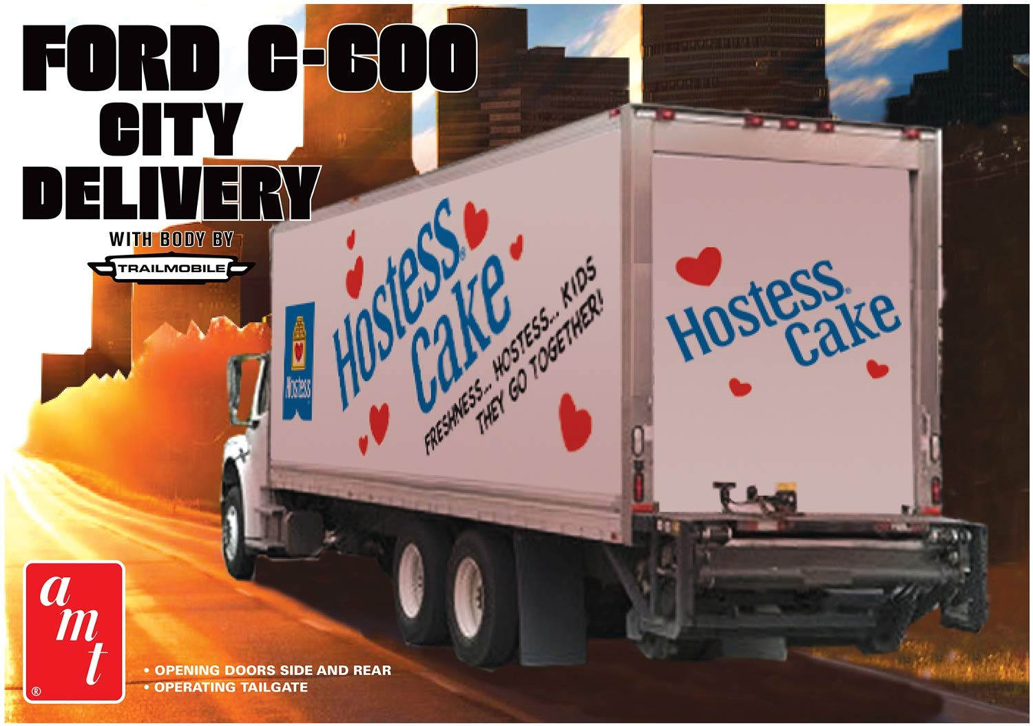 AMT 1139 1/25 Ford C-600 City Delivery, Hostess