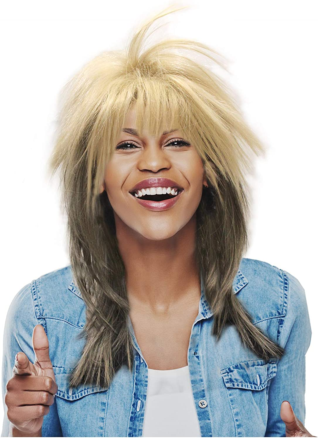 Blonde Rocker Wig Tina Turner Wig 80's