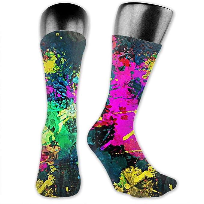 9f3ca9b6c0ce1 Color Splash Casual Crew Socks Novelty Sports Long Tube Socks Comfortable  Dress Socks