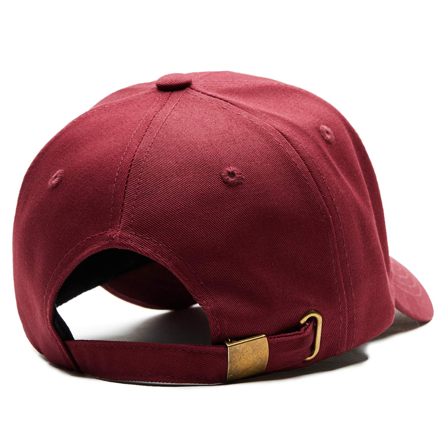 Baseball Cap Dad Hat Baseball Hat Red Solid Outdoor Sports Male Female Cotton Ventilate Caps for Men Women