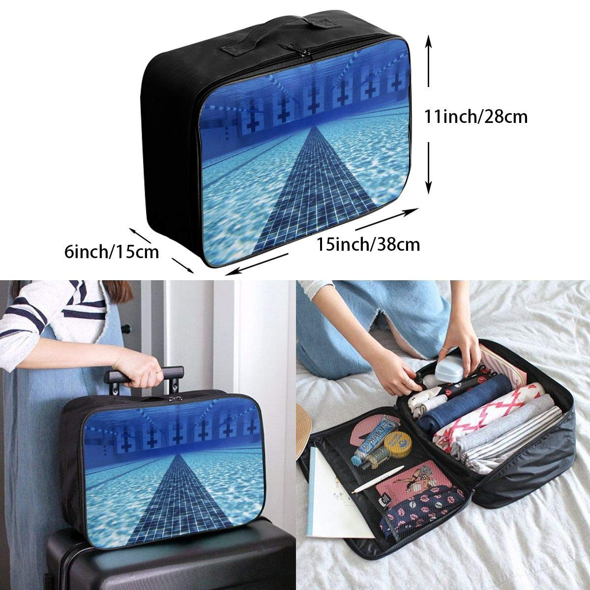 Travel Luggage Duffle Bag Lightweight Portable Handbag Piano Music Large Capacity Waterproof Foldable Storage Tote