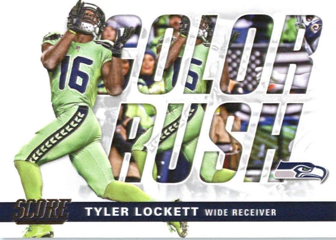 Amazon Com 2017 Score Color Rush 17 Tyler Lockett Seattle Seahawks Football Card Sports Collectibles
