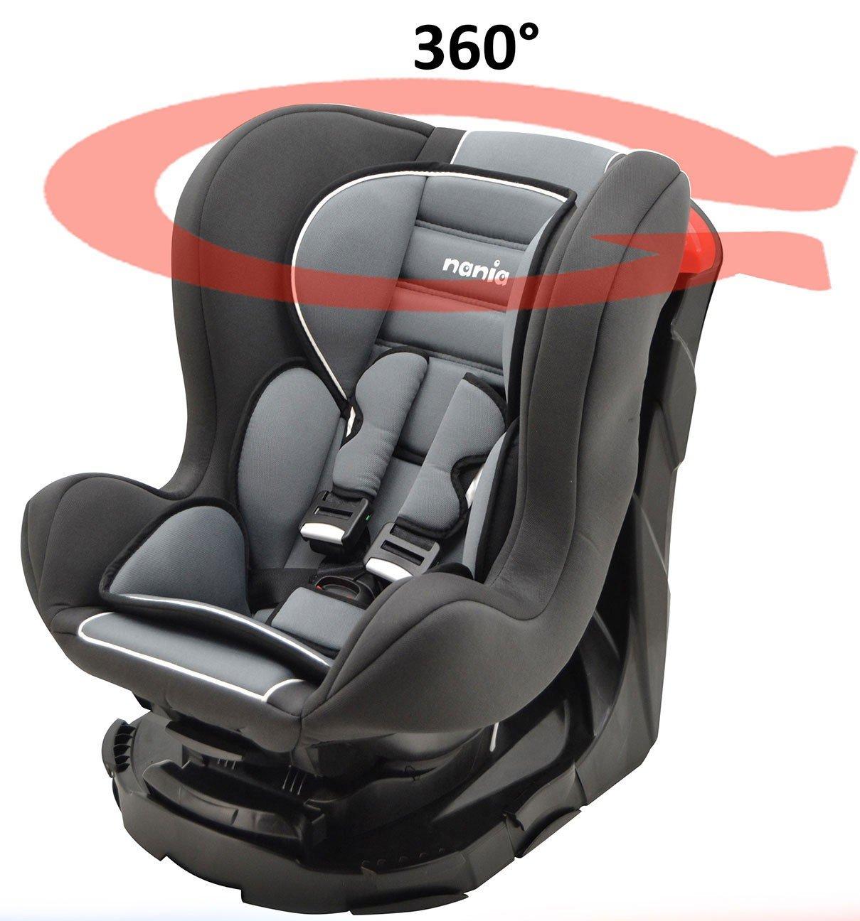 Mycarsit Si/ège Auto 360/° Framboise de 0 /à 18 kg Groupe 0+//1