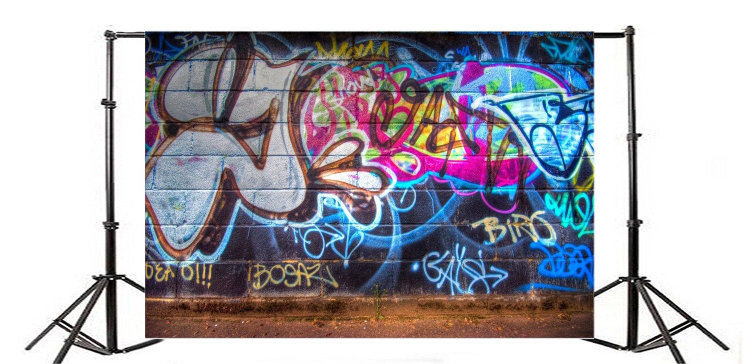 YongFoto 3x2m Vinilo Fondo de Fotografia Graffiti Pintada Pared Urbano Calle Abstracto Art Pintura Fondos para Fotografia Fiesta Ni/ños Boby Boda Adulto Retrato Personal Estudio Fotogr/áfico Accesorios