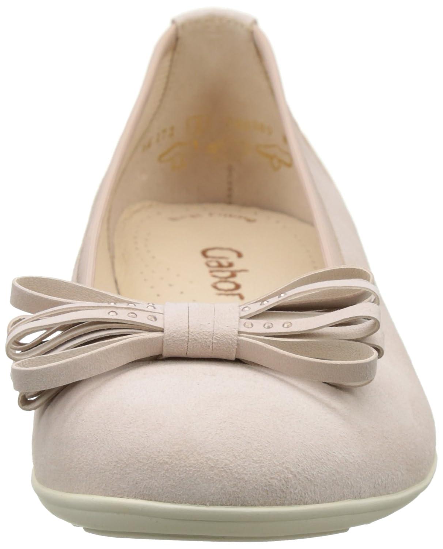 Gabor Damen Fashion Beige Geschlossene Ballerinas Beige Fashion (Skin 14) e2af2f