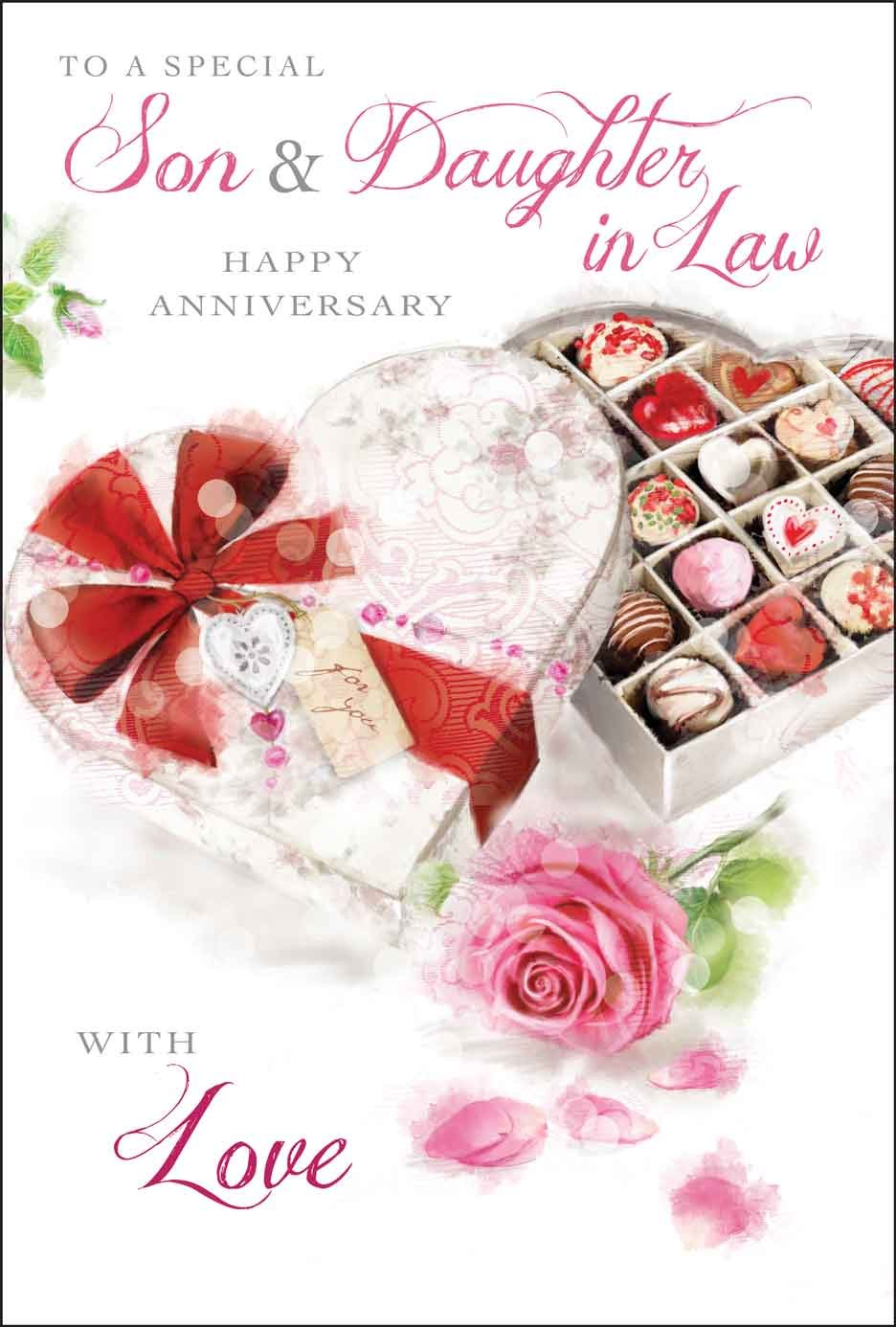 Son Daughter In Law Wedding Anniversary Card Amazon Office