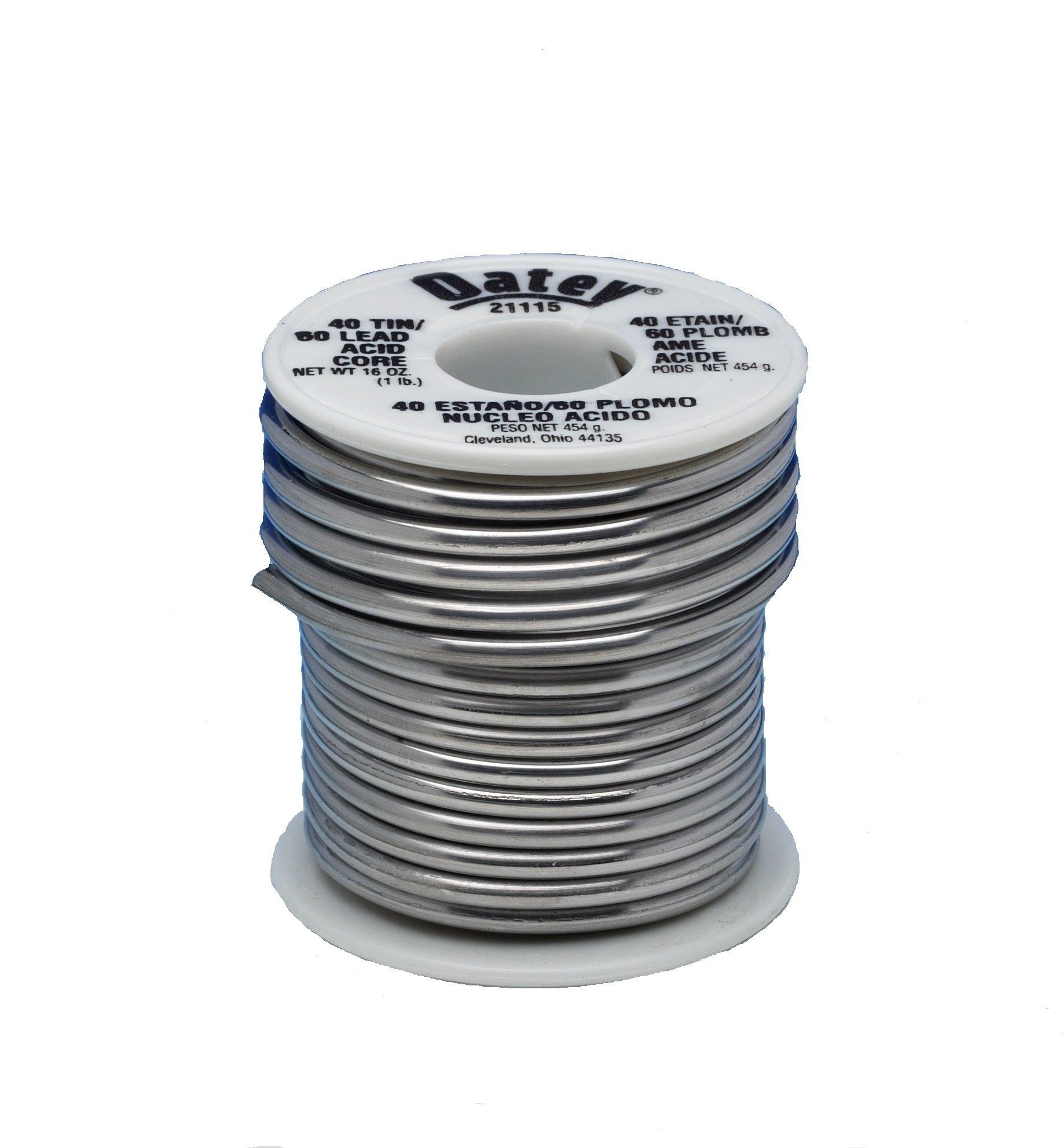 Oatey 21115 40/60 Acid Core Solder, 0.125-Inch ga. - Bulk 1 lb.