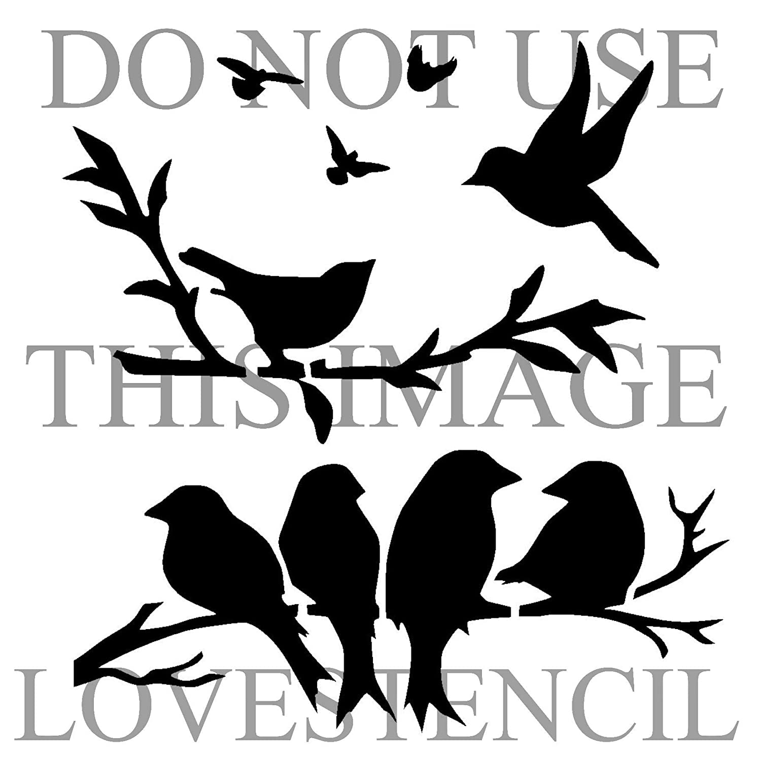 Birds stencil 3. Choose size and thickness.