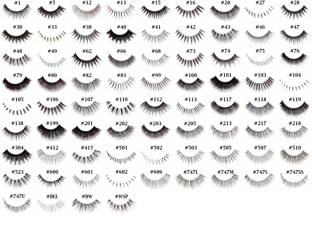 Pick Any 40 Pairs of Red Cherry False Eyelashes (exclude DW, WSP, 102, and 605) by Red Cherry