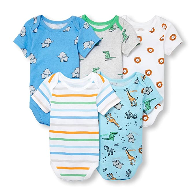 42c02afce Amazon.com  The Children s Place Baby Boys 5 Pack Short Sleeve ...