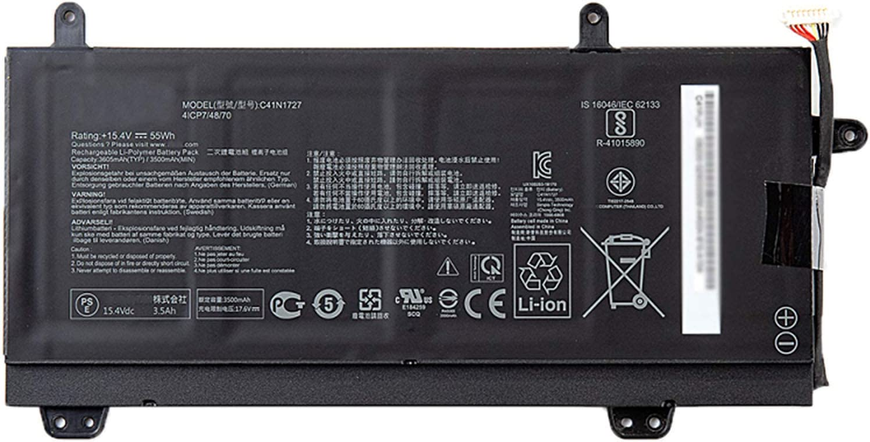 Dentsing C41N1727 15.4V 55Wh/3605mAh Laptop Battery Compatible with ASUS ROG Zephyrus GM501 GM501G GM501GM GM501GS GU501 GU501GM Series Notebook 0B200-02900000