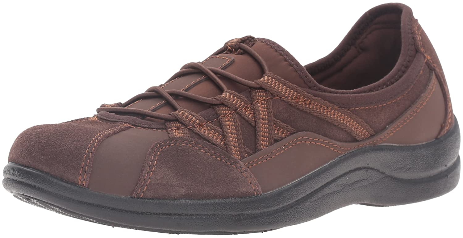 Easy Street Women's Laurel Flat B01JU8B7NQ 11 2W US|Brown Leather/Suede Leather