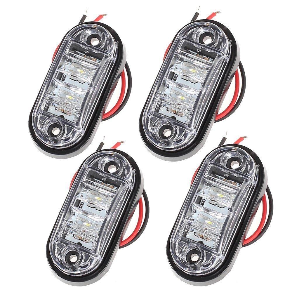 Side Light 4PCS Waterproof LED Side Marker Lights 12V/24V Amber Bright LED Side Lights for Car Truck Van Trailers Lorry PROZOR