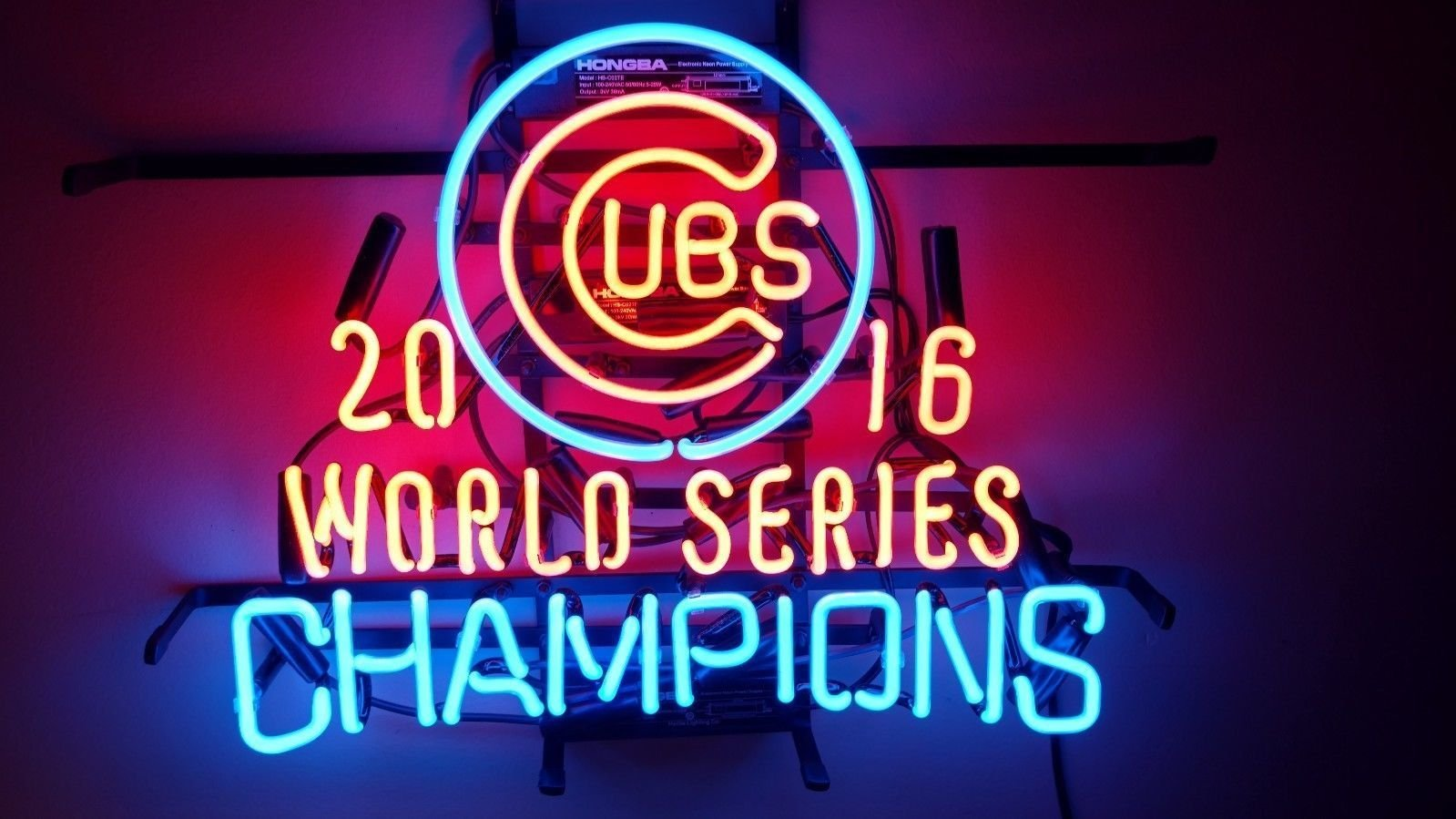 Urby™ 19''x15'' Sports Unions C ubs 2016WorldChams Custom Neon Sign Beer Bar Pub Neon Light 3-Year Warranty-Excellent & Unique Handicraft! U124 by Urby