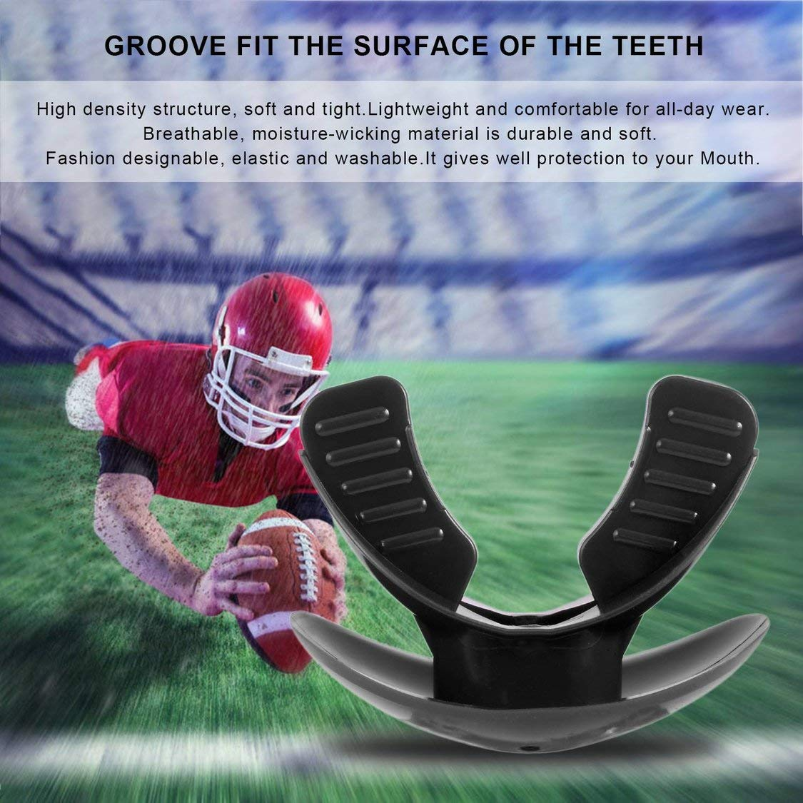VIGE Food-Grade TPR Mouthgard Sport Thai Boxing Mundschutz Adult Oral Teeth Protect Guard f/ür f/ür Boxen Basketball Football Rugby