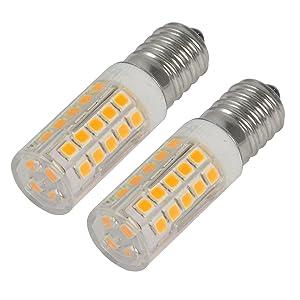 Reelco Mini E12 LED Light Bulbs C7 Bulbs 5Watt White 6000K 120V Candelabra Bulb 40Watt Incandescent Bulbs Equivalent(2-Pack)