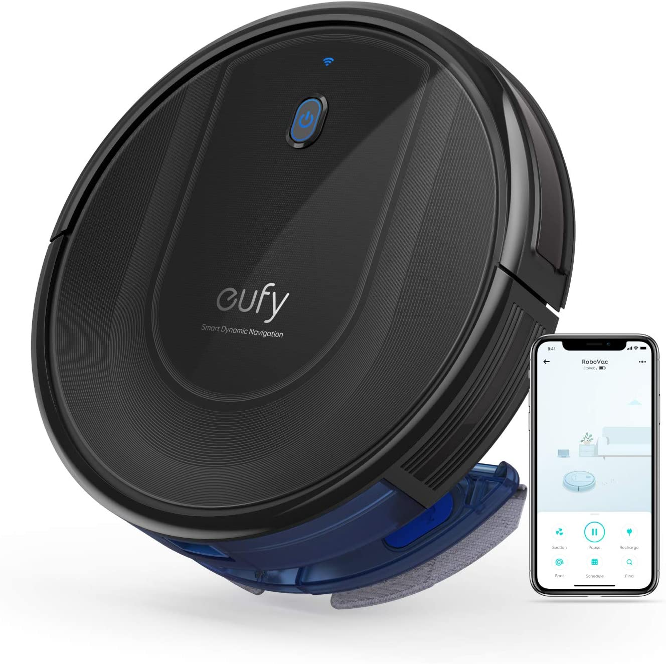 eufy by Anker, RoboVac G10 Hybrid, Robotic Vacuum Cleaner, Smart Dynamic Navigation, 2-in-1 Sweep and mop, Wi-Fi, Super-Slim, 2000Pa Strong Suction, Quiet, Self-Charging, for Hard Floors Only