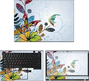 "Decalrus - Protective Decal Floral Skin Sticker for Lenovo ThinkPad X390 / X395 (13.3"" Screen) case Cover wrap LEthnkpad13_X390-170"