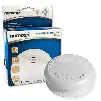 1x Nemaxx WL2 detectores de Humo inalámbricos - con DIN EN 14604: Amazon.es: Bricolaje y herramientas