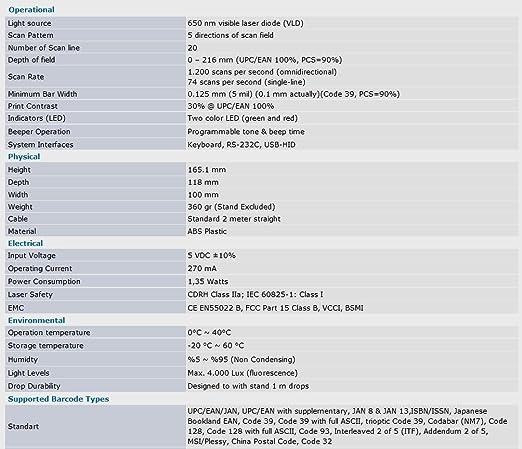 Amazon com : Zebex Z6170 HandsFree SingleLaser Omnidirectional