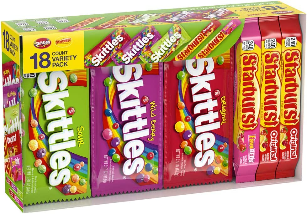 Skittles Full Size Candy Variety Mix, Great for Easter Gift Baskets